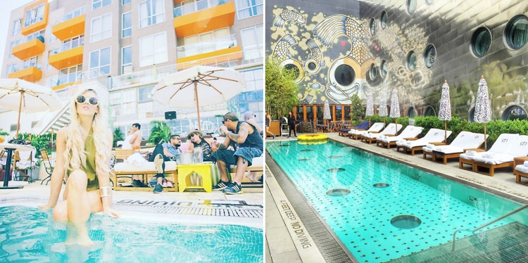 The chicest rooftop pools in new york - Hotel new york swimming pool roof ...