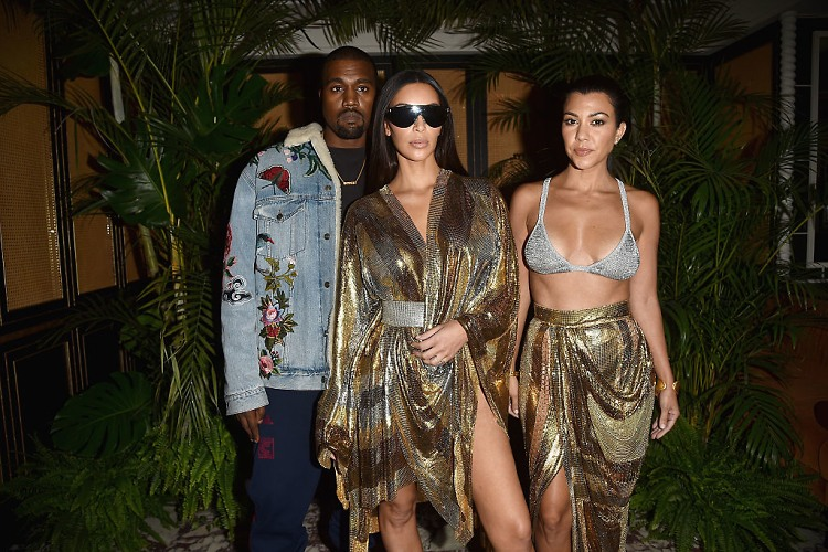 Kim & Kanye Party With Olivier Rousteing Post-Balmain