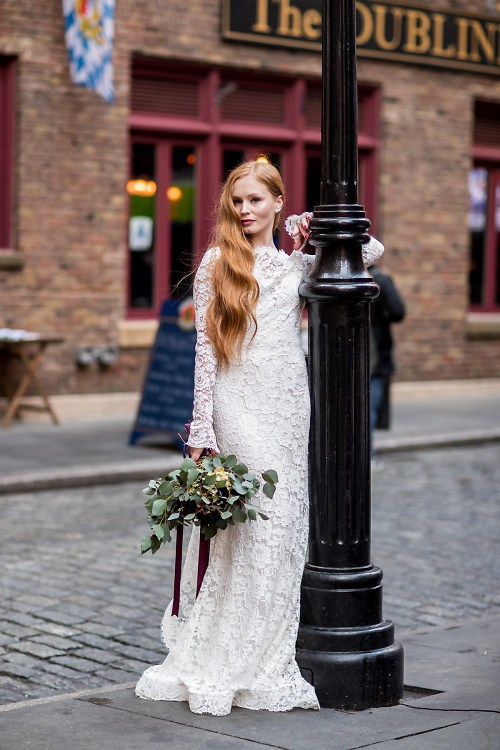 Stone Street: The Perfect Unexpected Spot For A Bridal Photo Shoot