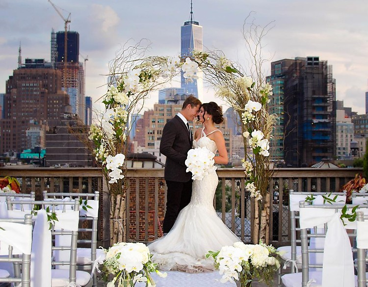 10 stunning rooftop venues for the perfect nyc wedding for Outdoor wedding venues in ny