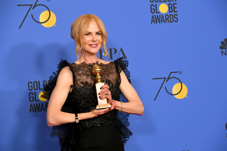 Golden Globes 2018: Victorious Big Little Lies co-stars Alexander Skarsgard, Laura Dern