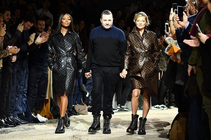 Naomi Campbell and Kate Moss Reunite at Louis Vuitton Show
