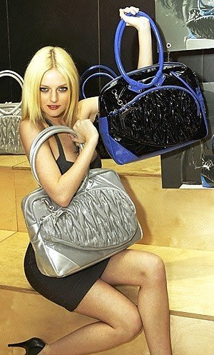 lydia hearst with puma bags