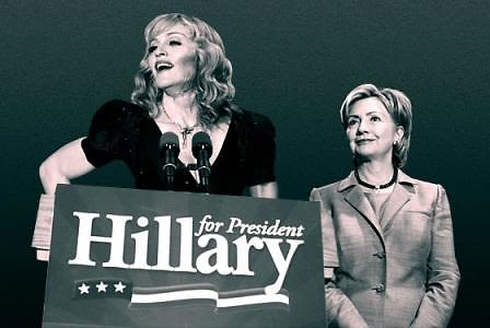 madonna for hillary