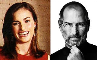 steve jobs and daughter lisa