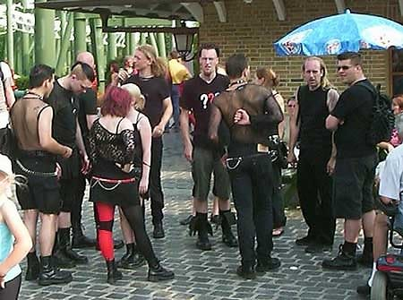 goths outside subway station