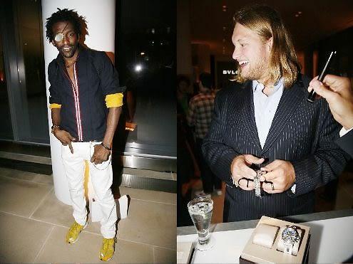 Michael Olajide and Nick Mangold