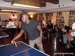 Naeem Delbridge Playing Ping Pong at Soho House