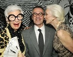 Iris Apfel, Michael Vollbracht, and Carmen Dell'Orifice
