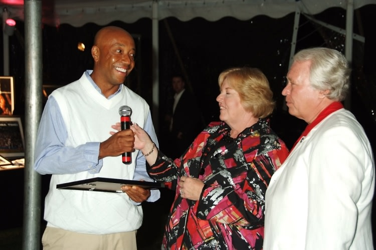 russell simmons at red cross benefit