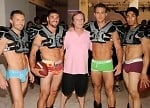 patrick mcmullan with underwear models