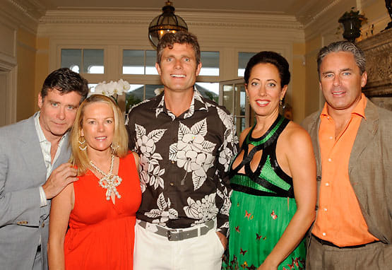 Jay McInerney, Anne Hearst, Anthony Shriver, and Tatiana and Campion Platt