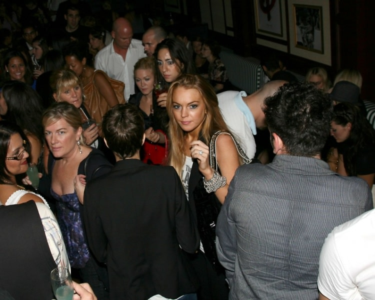 Lindsay Lohan arrives at Country Club