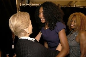 Carolina Herrera with Venus Williams