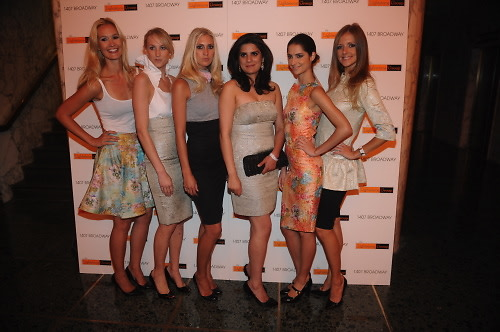 fashion designer zahra saeed with models