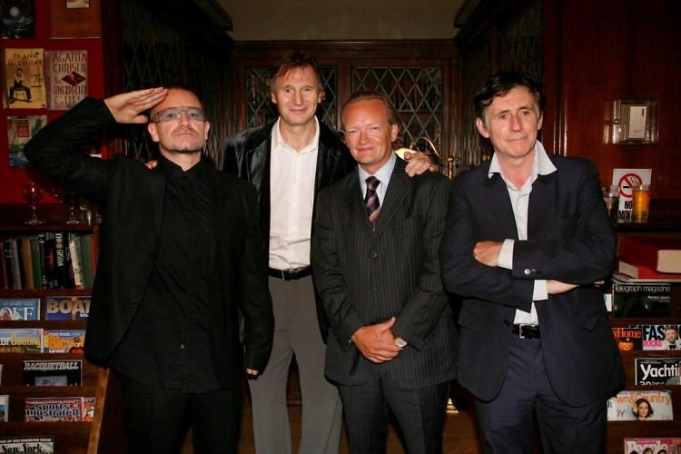 Bono, Liam Neeson, Declan Kelly, Gabriel Byrne