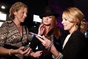 Amy Berman, Debra Messing, Becky Newton