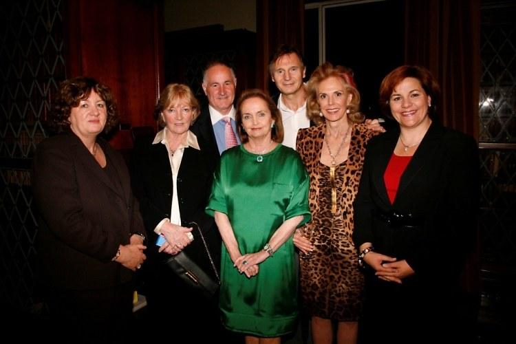 Eilish Loughran, Nula Delaney, Loretta Brennan Glucksman, Liam Neeson, Tina Santi Flaherty, Christine Quinn