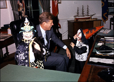JFK with kids on Halloween
