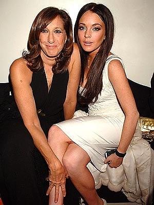Donna Karan and Lindsay Lohan