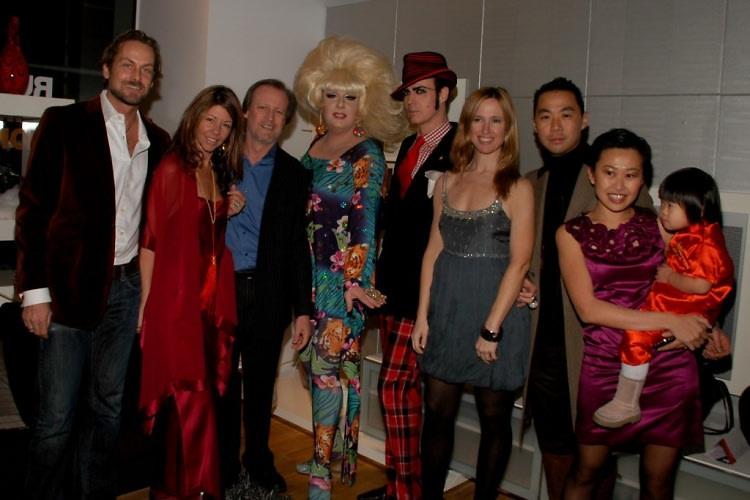 Andrew Brumger, Cindi Cook, Patrick McMullan, Lady Bunny, Patrick McDonald, Sally Randal, Shaokao Cheng, Niki Cheng, Pienna Cheng