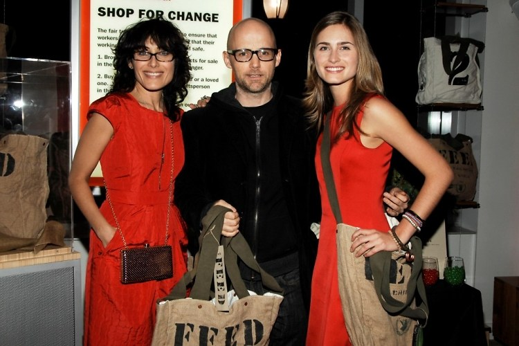 Lisa Edelstein, Moby, Lauren Bush
