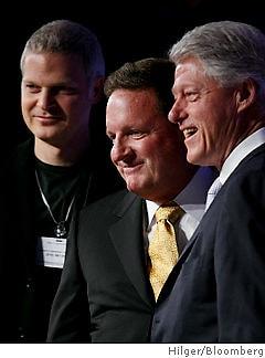 Steven Bing, Ron Burkle, Bill Clinton