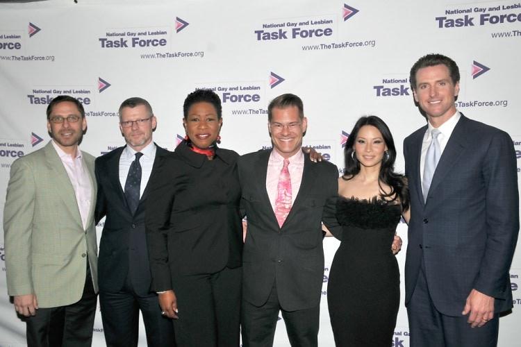 Jeff Adler, Mark Sexton, Paula Redd Zeman, John Bartlett, Lucy Liu, Mayor Gavin Newsom