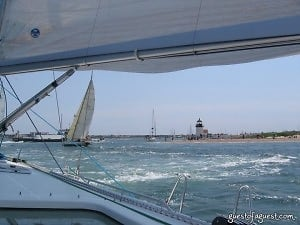 Approaching The Finish Line at Brant Point