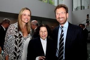 Clarissa Bronfman, Fran Lebowitz, Edgar Bronfman