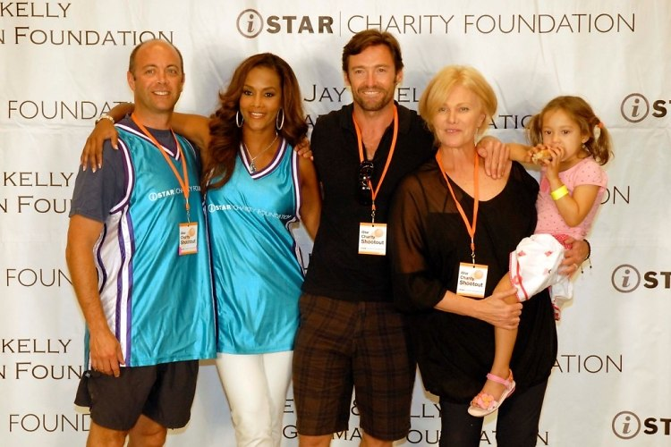 David Saltzman, Vivica Fox, Hugh Jackman, Deborra-Lee Furness, Eva Jackman