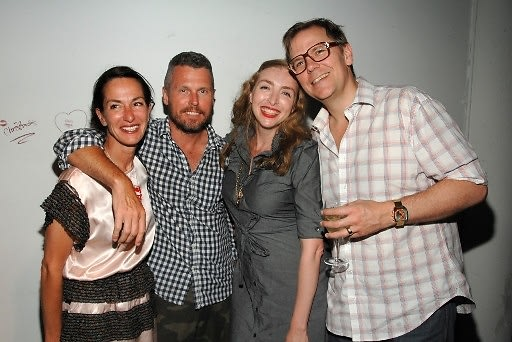 Cynthia Rowley, Bill Powers, Rachel Feinstein, John Currin
