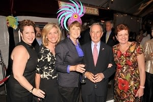 Jennifer Fischer, Catherine Barber, Deborah Krulewitch, Mayor Michael Bloomberg, Kathleen Longo