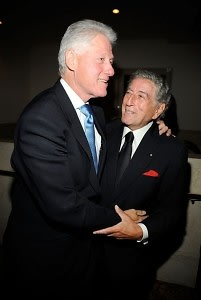 Bill Clinton, Tony Bennett