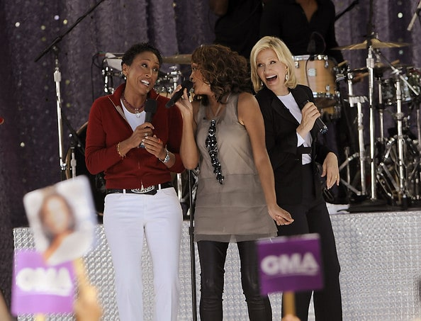 Robin Roberts, Whitney Houston, Diane Sawyer
