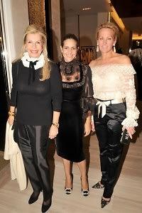 Princess Yasmin Aga Khan, Alexandra Lebenthal, Muffie Potter Aston