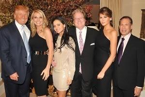Donald Trump, Petra Levin, Nathalie Fernandez De La Valle, Patrick Park, Melania Trump, Stephen A. Levin