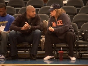 Bernie Williams and Penny Marshall