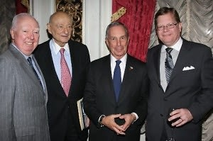 James Gill, Ed Koch, Mayor Michael Bloomberg, Don Lents