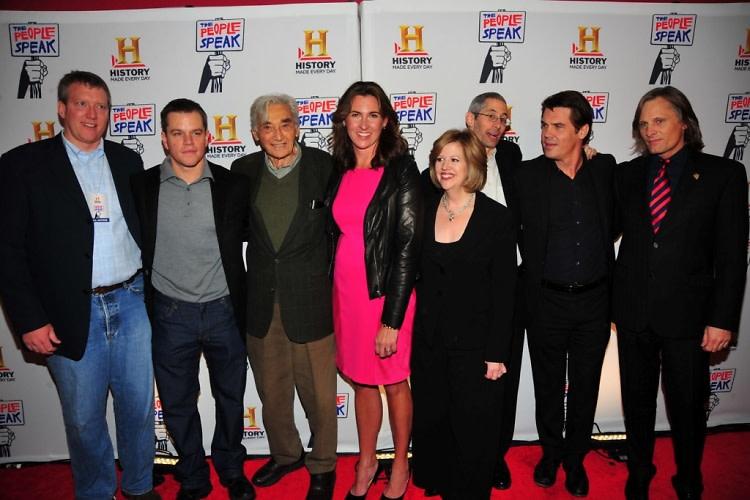 Chris Moore, Matt Damon, Howard Zinn, Nancy Dubuc, Abbe Raven, Anthony Arnove, Josh Brolin, Viggo Mortensen