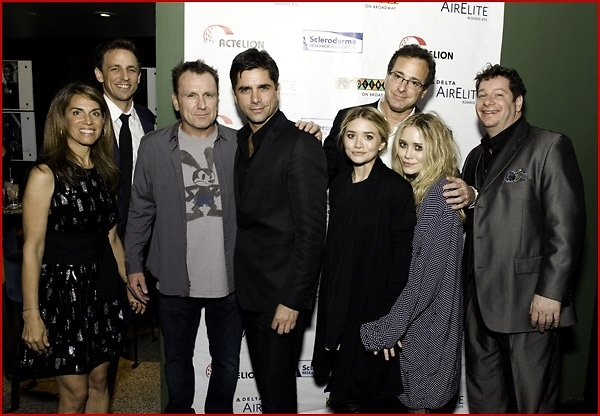 Mary Kate Olsen, Ashley Olsen, Bob Saget, Jeff Ross, Caryn Zucker, John Stamos