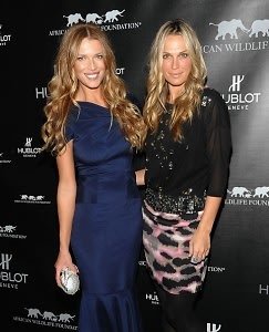 Veronica Varekova and Molly Sims