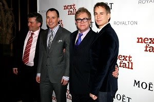 Anthony Barrile, David Furnish, Sir Elton John, Geoffrey Nauffts