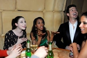 Michelle Trachtenberg, Kerry Washington, Robin Thicke