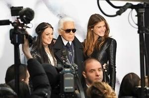 Lindsay Lohan, Karl Lagerfeld, Elise Sednaoui