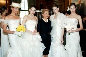 Carolina Herrera and models