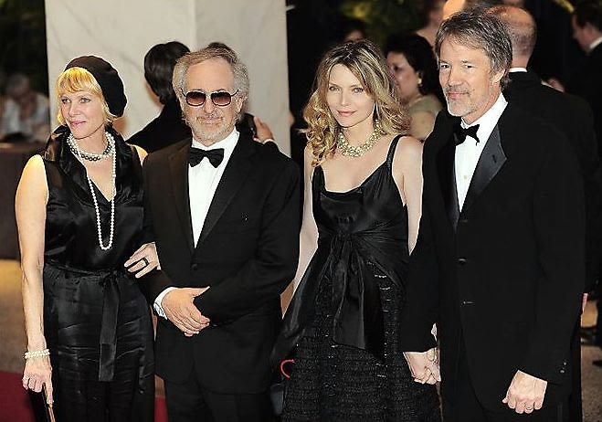 Kate Capshaw, Steven Spielberg, Michelle Pfieffer, David Kelley