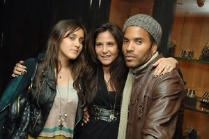 Jesse Joe Stark, Laurie Stark and Lenny Kravitz