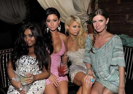Snooki, JWoww, Paris Hilton, Nicky Hilton