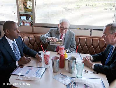 Jay-Z, Warren Buffett, Steve Forbes